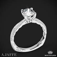 14k White Gold A. Jaffe MES740Q Seasons of Love Diamond Engagement Ring | Whiteflash
