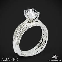 14k White Gold A. Jaffe MES740Q Seasons of Love Diamond Wedding Set | Whiteflash