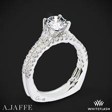 14k White Gold A. Jaffe MES742QB Classics Diamond Wedding Set | Whiteflash