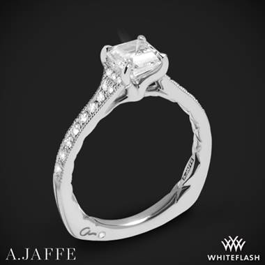 14k White Gold A. Jaffe MES753Q Seasons of Love Diamond Engagement Ring
