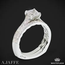 14k White Gold A. Jaffe MES753Q Seasons of Love Diamond Wedding Set | Whiteflash
