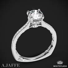 14k White Gold A. Jaffe MES771Q Art Deco Diamond Engagement Ring | Whiteflash