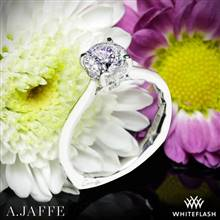 14k White Gold A. Jaffe MES837Q Solitaire Engagement Ring | Whiteflash