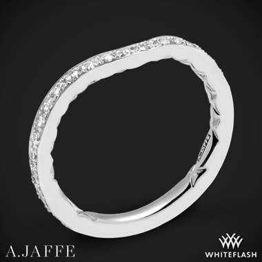 14k White Gold A. Jaffe MR2256Q Diamond Wedding Ring