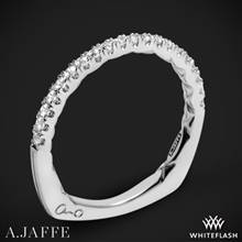 14k White Gold A. Jaffe MRS742QB Classics Diamond Wedding Ring | Whiteflash