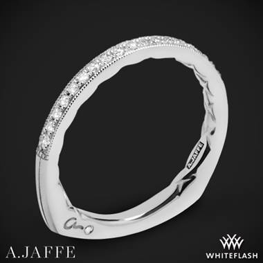 14k White Gold A. Jaffe MRS753Q Seasons of Love Diamond Wedding Ring