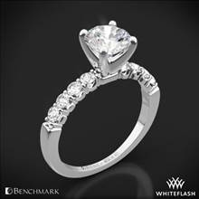 14K White Gold Benchmark CSP4 Crescent Diamond Engagement Ring | Whiteflash
