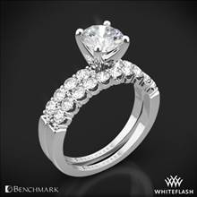 14k White Gold Benchmark CSP4 Crescent Diamond Wedding Set | Whiteflash