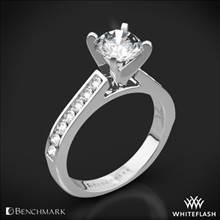 14k White Gold Benchmark HCC2 Channel-Set Diamond Engagement Ring | Whiteflash