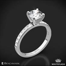 14k White Gold Benchmark LCP2 Large Pave Diamond Engagement Ring | Whiteflash