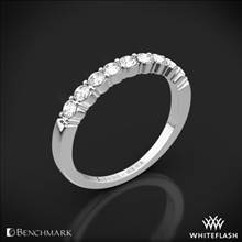 14k White Gold Benchmark Shared-Prong Diamond Wedding Ring | Whiteflash