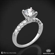 14k White Gold Benchmark SP4 Shared-Prong Diamond Engagement Ring | Whiteflash