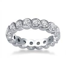 14K White Gold Bezel Set Diamond Eternity Ring (1.70 - 2.00 cttw.) | B2C Jewels