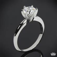 14k White Gold Classic 6 Prong Solitaire Engagement Ring | Whiteflash