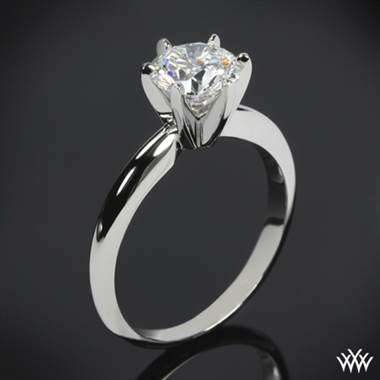 14k White Gold Classic 6 Prong Solitaire Engagement Ring