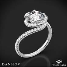 14k White Gold Danhov AE100 Abbraccio Diamond Engagement Ring | Whiteflash