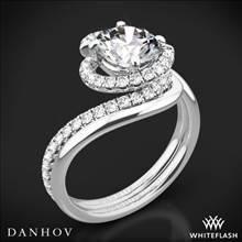 14k White Gold Danhov AE100 Abbraccio Diamond Wedding Set | Whiteflash