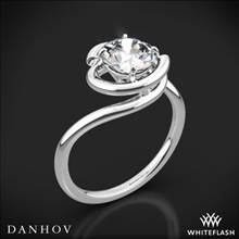 14k White Gold Danhov AE133 Abbraccio Solitaire Engagement Ring | Whiteflash