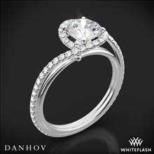 14k White Gold Danhov AE165 Abbraccio Diamond Engagement Ring | Whiteflash
