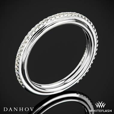 14k White Gold Danhov CB118-Q Classico Her Diamond Wedding Ring
