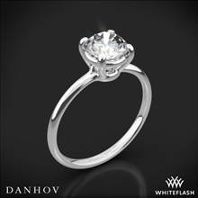 14k White Gold Danhov CL130 Classico Solitaire Engagement Ring | Whiteflash
