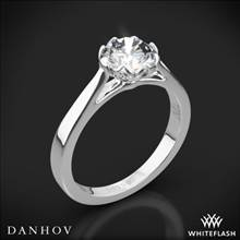 14k White Gold Danhov CL140 Classico Solitaire Engagement Ring | Whiteflash