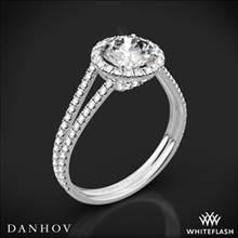 14k White Gold Danhov LE117 Per Lei Double Shank Diamond Engagement Ring | Whiteflash