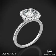 14k White Gold Danhov LE125H Per Lei Halo Diamond Engagement Ring | Whiteflash