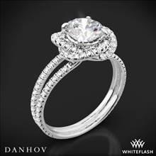 14k White Gold Danhov SE100Q Solo Filo Double Shank Diamond Engagement Ring | Whiteflash