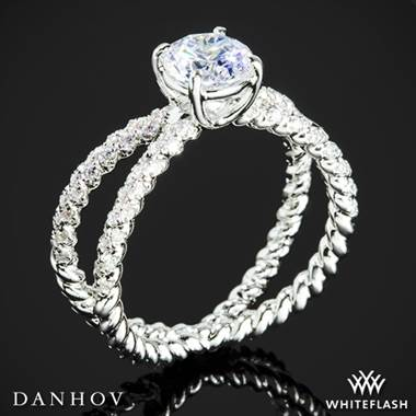 14k White Gold Danhov ZE185H Eleganza Diamond Engagement Ring