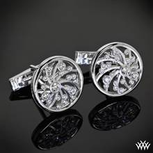 14k White Gold Dreams of Africa™ Cuff Links | Whiteflash