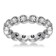14K White Gold Pave Set Diamond Eternity Ring (0.32 - 0.38 cttw.) | B2C Jewels