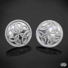 "14k White Gold ""Prodigy"" Cuff Links 
