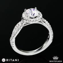 14k White Gold Ritani 1RZ1318 Diamond Engagement Ring | Whiteflash