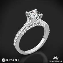 14k White Gold Ritani 1RZ1320 French-Set Diamond Engagement Ring | Whiteflash