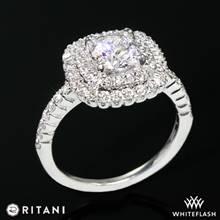 14k White Gold Ritani 1RZ1336  Diamond Engagement Ring | Whiteflash