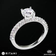 14k White Gold Ritani 1RZ1340  Diamond Engagement Ring | Whiteflash