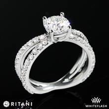 14k White Gold Ritani 1RZ1348  Diamond Engagement Ring | Whiteflash