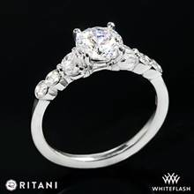 14k White Gold Ritani 1RZ1508  Diamond Engagement Ring | Whiteflash
