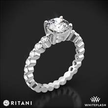 14k White Gold Ritani 1RZ1888 Shared-Prong Diamond Engagement Ring | Whiteflash