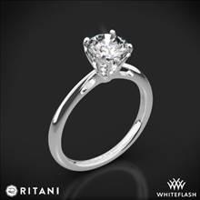 14k White Gold Ritani 1RZ3279 Embellished Prong Solitaire Engagement Ring | Whiteflash
