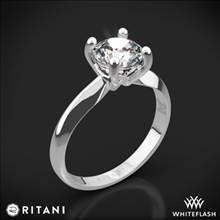14k White Gold Ritani 1RZ7261 Knife-Edge Solitaire Engagement Ring | Whiteflash