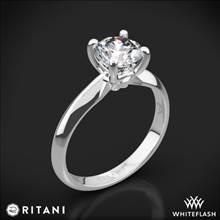 14k White Gold Ritani 1RZ7264 Knife-Edge Surprise Diamonds Solitaire Engagement Ring | Whiteflash