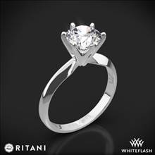 14k White Gold Ritani 1RZ7265 Six-Prong Knife-Edge Solitaire Engagement Ring | Whiteflash