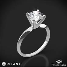14k White Gold Ritani 1RZ7286 Knife-Edge Solitaire Engagement Ring | Whiteflash