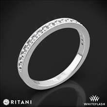 14k White Gold Ritani 21697 Milgrain Diamond Wedding Ring   Whiteflash
