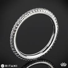 14k White Gold Ritani 33700 Open Micropave Eternity Diamond Wedding Ring | Whiteflash