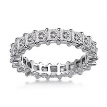 14K White Gold Shared Prong Princess Diamond Eternity Ring (3.23 - 3.91 cttw.) | B2C Jewels