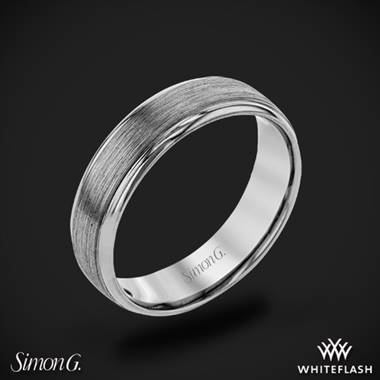 14k White Gold Simon G. LP2194 Men's Wedding Ring