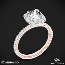 14k White Gold Two Tone Verragio Tradition TR120HCU-2T Diamond Cushion Halo Engagement Ring | Whiteflash
